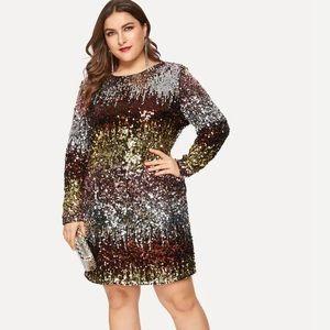 Sexy plus size sequin dress SHEIN size XL